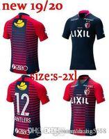 camisas por lotes al por mayor-2019 2020 Kashima Antlers Jersey de Futbol 19 20 J League Japón Kashima Antlers rojo azul camisetas de la raya por lotes de varios tamaños