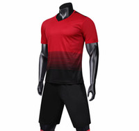 Wholesale discount soccer jersey sets for sale - Group buy New soccer jersey kit football tshirt shorts pants uniform set adult sport articles Blank jersey Discount Sale