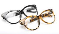 Wholesale vogue eyewear resale online - VOGUE female cateye big rim eyewear frameTF0330 prescription glasses sunglasses frame full set case OEM outlet