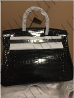 Wholesale coffee pockets resale online - Cowskin Alligator CM CM Women Totes Fashion Bags Shoulder bags Lady Genuine leather Handbag