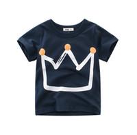 tshirts enfants achat en gros de-Bébé unisexe t-shirts couronne tees coton tops bonne qualité enfants vêtements enfants t-shirts à manches courtes 2019 printemps / été nouveau