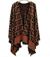 frauen s kaschmir mantel groß großhandel-Pullover Mantel Frauenkleidung Überlegene Qualität Quasten Mantel Zwei Farbe Einfach Große Version Typ Dick