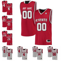 Wholesale cj jersey resale online - Custom NC State Wolfpack College Basketball gray red white Stitched Any Name Number CJ Bryce Devon Daniels Wyatt Walker Jerseys