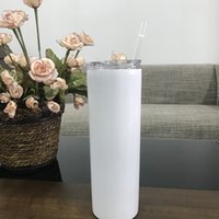 Wholesale hot seling resale online - Hot Seling Skinny Straight Cups oz Stemless Stainless Steel Tumblers Water Bottle Coffee Mugs With Lids And StrawsA03