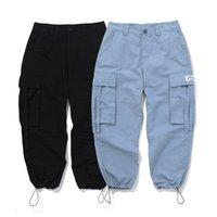 хип-галстук оптовых-Брюки-карго карманы тренировочные брюки хип-хоп свободные брюки брюки мужчины бегунов высокое качество лодыжки связали брюки
