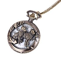 bolsillo de metal completo al por mayor-2019 Nueva alta calidad Full Metal Alchemist bronce antiguo reloj de bolsillo Anime reloj de bolsillo Mens Fob Relojes