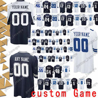 Dallas 54 Jaylon Smith Cowboys Jerseys 94 Randy Gregory 12 Roger Staubach  97 Taco Charlton 33 Tony Dorsett 8 Troy Aikman Jersey custom Game 37b45c4e7