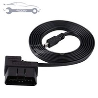 cable eobd obd2 al por mayor-180cm del coche OBD-II OBD2 EOBD 16pin adaptador de extensión de diagnóstico de cable mini USB