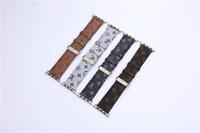 hebillas de cuero de la venda del reloj al por mayor-Loop de cuero para Apple Watch Band 42mm Serie 38mm Brazalete de reemplazo Pulseras Retro Leather Soft Band Band Hebilla Accesorios