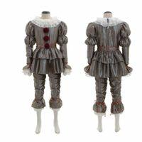 ingrosso costume fantasma dei bambini-Mens Donne di età del bambino Bambini costumi di Halloween Horror Movie pagliaccio Pennywise Torna vestito di Halloween Abbigliamento Cosplay orrore fantasma Tricky