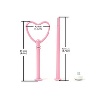 Wholesale hot pink cupcakes resale online - Hot Selling Heart Shape Stand Wedding Metal Cup Fruit Fitting Tier Pink Cake Decorating Tool
