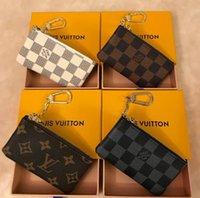 diseños de billetera de damas al por mayor-MarcaLouisVuittonDiseño de estilo monedero para hombres, mujeres, señora, monedero de cuero, billetera con llave, mini billetera sin billetera