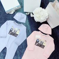 fleece babys kleidung großhandel-freier Verschiffen neuer Herbst- / Frühlings-Baby-Spielanzug kleidet langärmligen Overall für Neugeborene Jungen-Mädchen-polare Vliesbaby Kleidung mit Hut