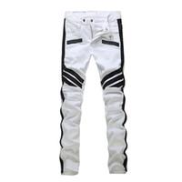 marcas famosas designer jeans venda por atacado-Famosa Camo calça jeans Novo verão designer de moda mens rasgado marca famosa motociclista Calça Casual hip hop jeans para Jeans Denim Calças Compridas