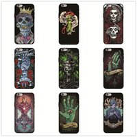 Wholesale skull iphone cell case for sale – best Horror Bones Cell Phone Case Skull Cartoon Pattern For Iphone Xr X Plus Xs Max Black TPU Soft Phone Cases