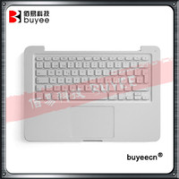 Wholesale macbook 13 topcase for sale - Group buy Original New A1342 Top case Spanish French Keyboard For Macbook Unibody quot A1342 Palmrest Topcase Layout White Backlit Touchpad