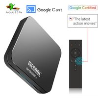 ingrosso a distanza-TV con certificazione Android 9.0 torta ATV TV Box con caselle intelligenti Remote Voice Amlogic S905X2 DDR4 4G 32G Bluetooth Dual Wifi Mecool KM9 Pro OTA