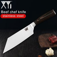 Wholesale japanese cooking tools for sale - Group buy XYj Kitchen Knife cr13 Stainless Steel Chef Knife Japanese Beef Meat Veg Cooking Tool Handmade Beef Chef Knife Tool Accessories