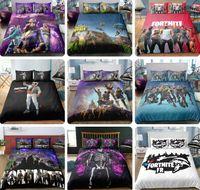 3d bedding set al por mayor-Juego de cama Fortnite 3D Juego Juego de funda nórdica con impresión nocturna de Fortnite y funda de almohada 2pcs / 3pcs