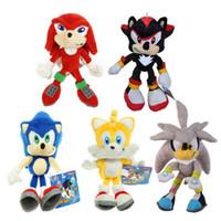 knuckles spiele großhandel-23cm Sonic Plush der Igel Sonic Tails Knuckles der Echidna Gefüllte Sonic der Igel Filme TV Game Plush Doll Animal Toys