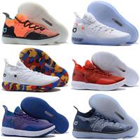 nuevas botas kd al por mayor-2018 Nuevos zapatos de diseñador Zoom KD 11 Hombres Zapatos al aire libre KDs XI Kevin Durant Deportes al aire libre Fmvp botas de combate tamaño us 7-12
