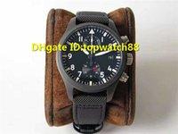 тканевые наручные часы оптовых-ZF 2019 новый дизайнер часы 89361 автоматический 28800VPH MIRAMAR хронограф сапфировое стекло черный керамический корпус ткань ремешок мужские часы