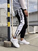 erkek kravat ölçüleri toptan satış-Erkek Pantolon Marka Tasarımcısı Erkekler Pantolon Lüks 2019 Yeni erkeğin Pantolon Moda Kravat Pantolon Aktif İpli Pantolon Boyutu S-3XL
