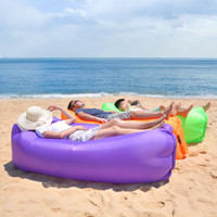 Wholesale inflatable mattress camping for sale - Group buy 20PCS Lounge Sleep Bag Lazy Inflatable Beanbag Sofa Chair Living Room Bean Bag Cushion Outdoor Self Inflated Beanbag Furniture WCW649