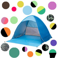 Wholesale camping tents resale online - Beach Tent Pop Up Beach Tents Instant Quick Cabana Sun Shelter Folding Garden Furniture Outdoor Camping Tools Colors LQP YW2835