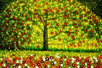 Wholesale wall canvas print arts resale online - A HD70Gustav Klimt The appletree High Quality Handpainted HD Print Famous Wall Art Oil Painting On Canvas Home Decor Multi Sizes