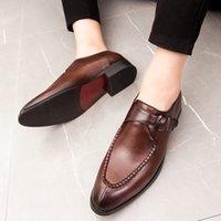 mens oxford casual chaussures noir achat en gros de-Hommes Casual Chaussures En Cuir Oxford Bout Pointu Sapato Social Masculino Couro Robe Habillée Chaussures Habillées Mâle Mariage Noir