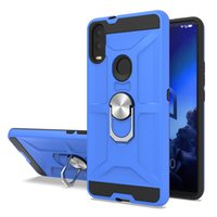 Wholesale amor case online – custom Amor Hybrid phone case For Alcatel V Iphone plus TPU PC with Metals ring kickstand back cover Oppbag