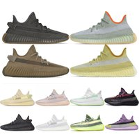 Wholesale white sneakers resale online - Newest Kanye West Running Shoes Cinder Earth Yecheil Yeezreel Marsh Desert Sage Static Reflective Synth Mens Sneakers Sports Runner