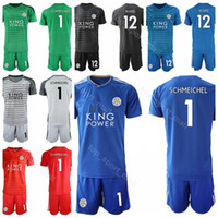 Leicester City Goalkeeper Soccer 12 Danny Ward Jersey Set 2018 2019 FC 1  Kasper Schmeichel Custom Name Number Football Shirt Kits Uniform d67ab4261