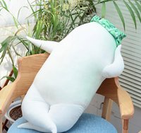 rabanete branco venda por atacado-Lindo Macio Dos Desenhos Animados Rabanete Branco Travesseiro De Pelúcia Big Stuffed Anime Rabanete Brinquedo Travesseiro Dormir Rap Almofada 47 polegada 120 cm