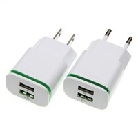 Wholesale android phone charging port for sale – best US EU Plug USB Charger Android V A Ports Mobile Phone Universal Power Charge LED Light Wall Travel Adapter