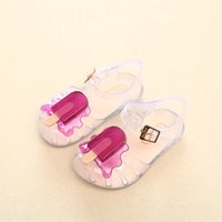 Wholesale white girl shoes pearls resale online - Brand New Mini Melissa Popsicle Girl Jelly Sandals Popsicle Ice Cream Baby Sandals Children Sandals Girl Water Shoes Y200103