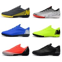 Wholesale neymar turf boot for sale - Group buy Mens Low Ankle Football Boots Mercurial VaporX VII Pro IC TF Soccer Shoes Neymar SuperflyX CR7 Indoor Turf Soccer Cleats