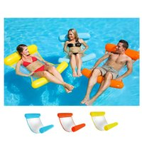 ingrosso sedie a sdraio galleggiante-New Summer Floating Water Hammock Float Lounger Gonfiabile Letto Galleggiante Beach Swimming Pool Lounge Float Letto Kids Adulti
