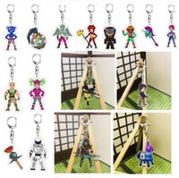 Wholesale adult anime character online - 40 Styles Game Fortnite Battle Royale Character Acrylic Keychain Cartoon Figure Pedant Anime Key Chains for Children Adults Fans Xmas Gift