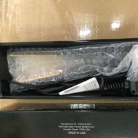 Wholesale hair retail flat for sale - Group buy Pro quot Ceramic Ionic Tourmaline Flat Iron Hair Straightener with Retail Box Christmas Gift Free Ship