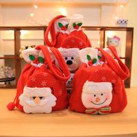 ingrosso shopping di mele-Christmas Decoration Flanella Candy Handbag Children's Kindergarten Red Shopping Mall Sacchetto regalo di Natale di Apple Carino forniture
