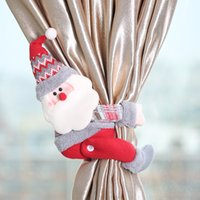 Wholesale decor screens resale online - Cartoon Doll Curtain Buckle Window Decor Snowman Santa Elk Window Screening Clip Christmas New Year Party Window Decoration