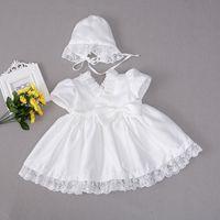 Preis vergleichen 100% Qualität beste Sammlung Kaufen Sie im Großhandel Weiße Taufe Kleidet Mützen 2019 zum ...