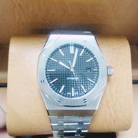 edelstahl blau groihandel-41 mm Luxusuhr für Herren Automatikuhr Uhr mit blauem Zifferblatt Saphir 15400 Edelstahl Herrenuhren