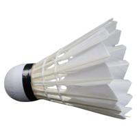 kaz tüyü badminton toptan satış-Sıcak Toptan 12 adet / grup Badminton Shuttlecocks Kaz Tüyü Raketle Badminton Topları Açık Spor Badminton Aksesuarları