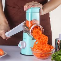 spiral dilimleyici sebzeler toptan satış-Çok fonksiyonlu Manuel Sebze Spiral Dilimleme Chopper Dilimleme Peynir Rende Zeki Sebze Kesici Mutfak Aletleri