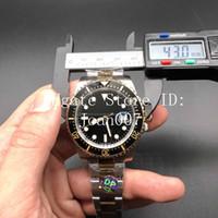 ingrosso bracciale watche-2019 Basel New Watch Luxury Watch 2 Tone Color Bracelet Vetro zaffiro Movimento automatico La migliore qualità 43mm 126603 Luxury Men Watche
