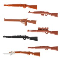 Wholesale toy military soldiers online - MOC WW2 Military Army Weapon Building Blocks Germany Soldier Parts Buildling Block Figures Accessories Guns Model Block Toys for Children