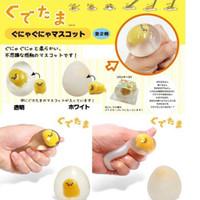 herramienta anti estrés al por mayor-Squishy Egg Anti Stress Toy Squeeze Squishy Soft Lazy Egg Yolk Stress Relief Divertidos juguetes de descompresión